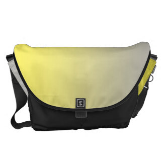 Yellow And Gray Large Commuter Bags
