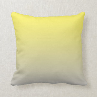"""Yellow And Gray Ombre"" Throw Pillow"