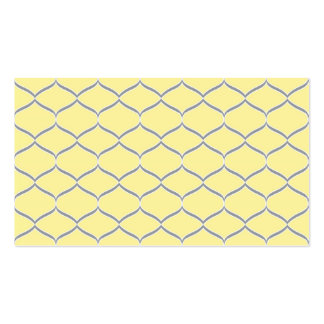 Yellow and Gray Teardrop Business Cards