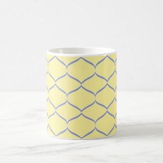 Yellow and Gray Teardrop Coffee Mugs