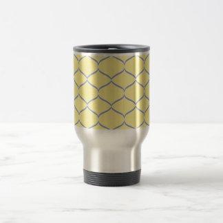 Yellow and Gray Teardrop Coffee Mug