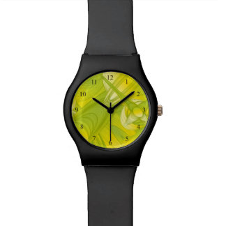 Yellow and Green Art Deco Wristwatches