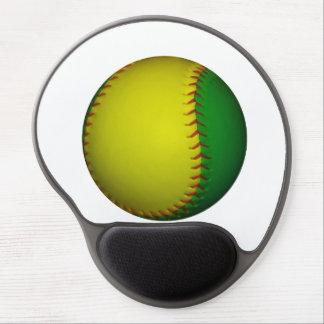 Yellow and Green Baseball / Softball Gel Mouse Pad