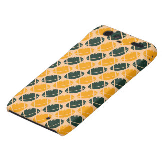 Yellow and green football (rugby) pattern motorola droid RAZR cases