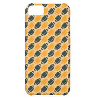 Yellow and green football (rugby) pattern iPhone 5C cover