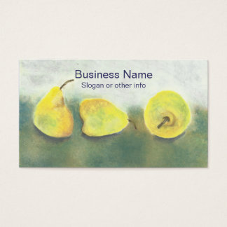 Yellow and Green Pears Professional Business Card