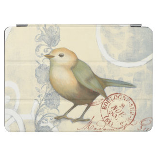 Yellow and Green Sparrow on Vintage Background iPad Air Cover