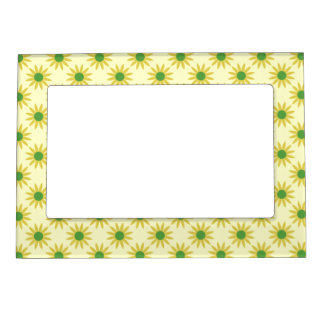 Yellow And Green Spring Daisies Picture Frame Photo Frame Magnets