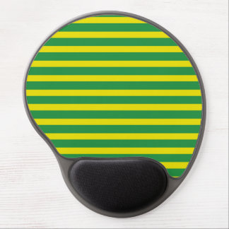 Yellow and Green Stripes Gel Mousepad