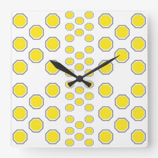 Yellow and Grey Beehive Wall Clock