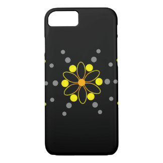 Yellow and grey flowey beads iPhone 7 case