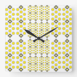 Yellow and Grey Geometric Wall Clock