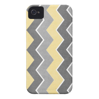 Yellow and Grey Zig Zag Pattern Case-Mate iPhone 4 Case