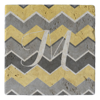 Yellow and Grey Zig Zag Pattern Trivet