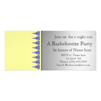 Yellow and lace bachelorette party invitation