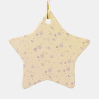 Yellow and Lavender Sprinkle Stars Ceramic Star Decoration