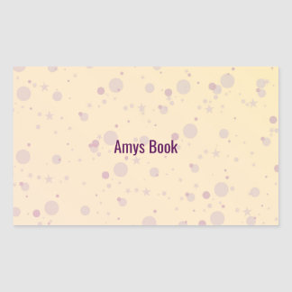 Yellow and Lavender Sprinkle Stars Rectangular Sticker