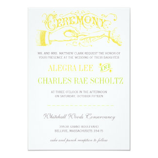 Yellow and Lime Modern Vintage Typography Invite