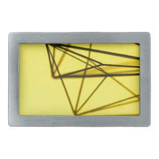 Yellow and Metal Geometric Design Rectangular Belt Buckle