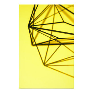 Yellow and Metal Geometric Design Stationery