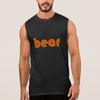 "Yellow and Orange ""bear"" Sleeveless T Sleeveless Shirt"