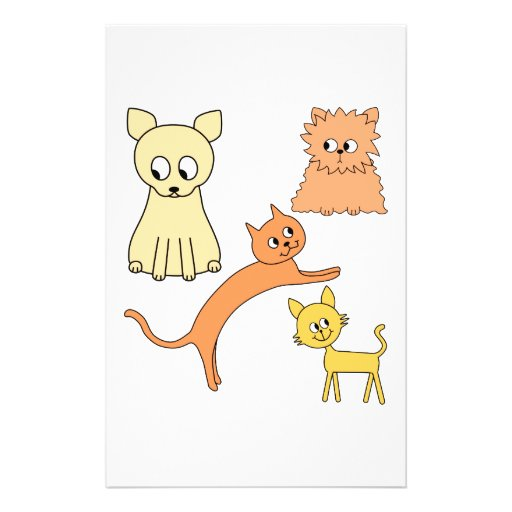 Yellow and Orange Cats. Flyer