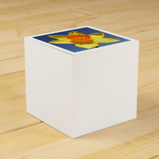 Yellow and Orange Colored Daffodil Favour Box