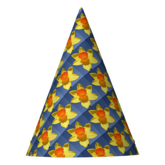 Yellow and Orange Colored Daffodil Party Hat