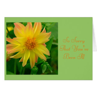 YELLOW AND ORANGE COLORED DAHLIA CARDS