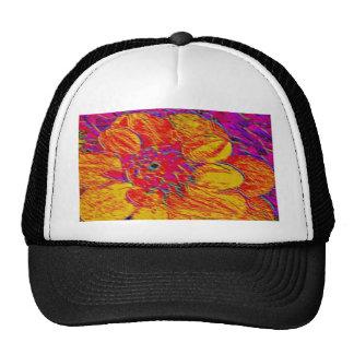 yellow and orange dahlia cap