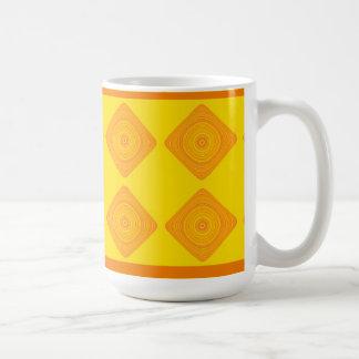 Yellow and Orange Diamond Geometric Mug