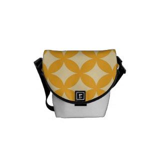 Yellow and Orange Geocircle Design Commuter Bag
