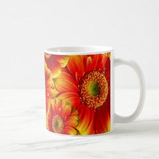 Yellow and Orange Gerbera Daisies Basic White Mug