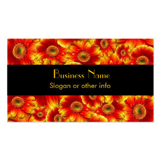 Yellow and Orange Gerbera Daisies Double-Sided Standard Business Cards (Pack Of 100)