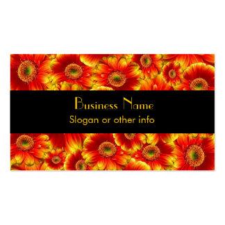 Yellow and Orange Gerbera Daisies Business Card Templates