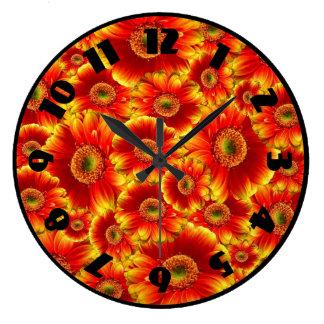 Yellow and Orange Gerbera Daisies Clocks