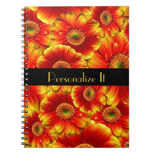 Yellow and Orange Gerbera Daisies Note Books