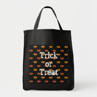 Yellow and Orange Jack O Lantern Trick Or Treat Tote Bag