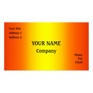 Yellow and orange pack of standard business cards
