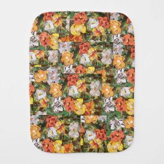 Yellow and orange paper flowers Burp Cloth