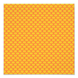 Yellow and Orange Pattern Photo Print