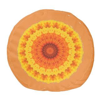 Yellow And Orange Pouf