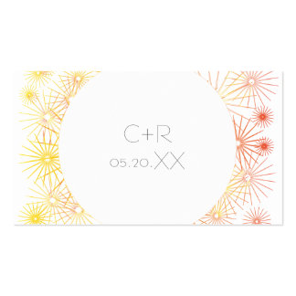 Yellow and Orange Stars Business Card