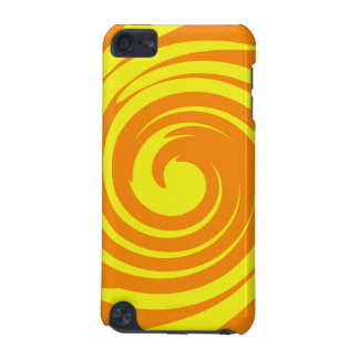 Yellow and orange swirl iPod touch (5th generation) covers