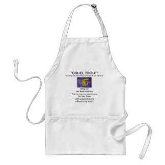 """""""Yellow and Orange Wet Fly-Cruel Trout""""  Apron"""