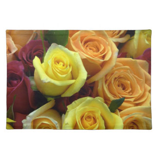 Yellow and Pale Orange Roses Placemat