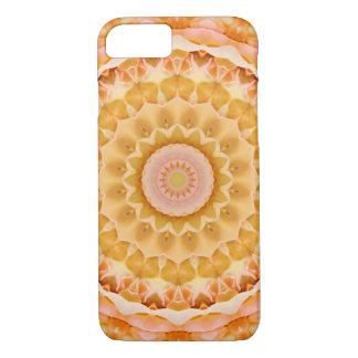 Yellow and Peach Rose Mandala iPhone 8/7 Case