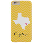 Yellow and Pink Cute Texas Love Chevron Monogram