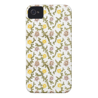 Yellow and Pink Flower Retro Vintage Print iPhone 4 Case