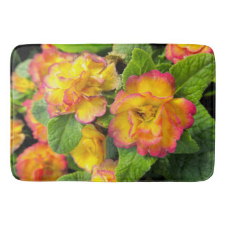 Yellow and Pink Flowers Bath Mat